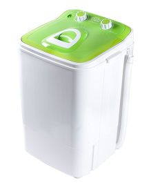 DMR MiniWash 4.6 kg Portable Single Tub Mini Washing Machine with Steel Dryer Basket - Green