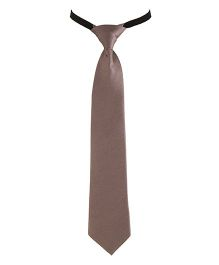 NeedyBee Solid Colour Tie - Brown