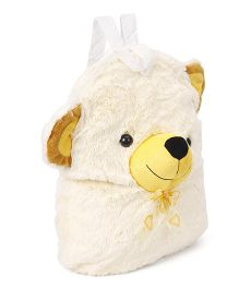 Funzoo Soft Toy Bag Teddy Bear Shape Cream - 14 inches