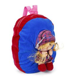 Funzoo Soft Toy Bag Candy Doll Shape Maroon & Blue Height - 13.3 inches