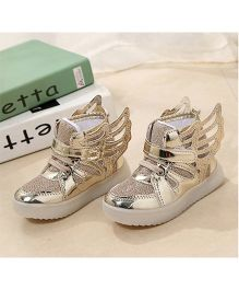 Princess cart Led Light Wing Styles Shoes - Golden