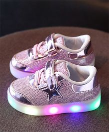 Princess cart Led Light Star Styles Shoes - Pink