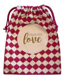 Papercrush Filled With Love Cloth Bag - Maroon
