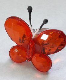 Sugarcart Adjustable Finger Ring Butterfly Motif - Red