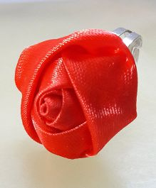 Sugarcart Adjustable Finger Ring Rose Motif - Red