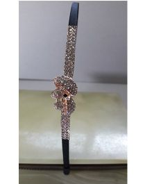 Sugarcart Diamond Studded Hairband - Black
