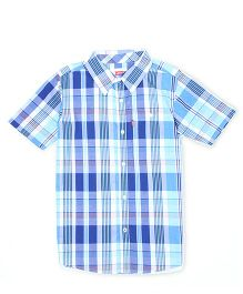 Levi's Half Sleeves Check Shirt - Blue White