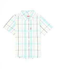 Levi's Half Sleeves Check Shirt - Green White