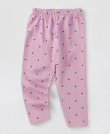 Babyhug Full Length Leggings Dot Print - Pink