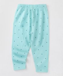Babyhug Full Length Leggings Dot Print - Sky Blue