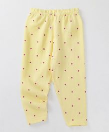 Babyhug Full Length Leggings Dot Print - Yellow