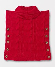 Yellow Apple Sleeveless Pullover Sweater - Red