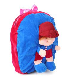 Funzoo Soft Toy Bag Candy Doll Shape Maroon & Blue  - 14 inches