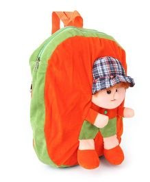 Funzoo Soft Toy Bag Candy Doll Shape Orange & Green Height - 14 inches