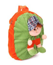 Funzoo Soft Toy Bag Candy Doll Shape Green & Orange Height - 14 inches