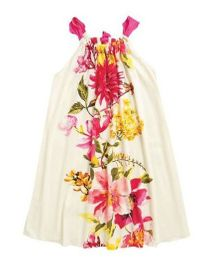 Angel Closet Singlet Floral Sundress - Cream & Pink