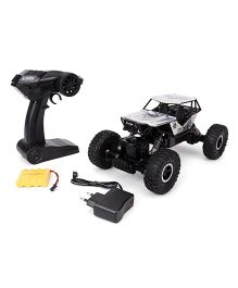 Smiles Creation Remote Controlled Rock Crawler 4 WD Rally Sar Toy Car - Black & Silver