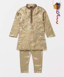 Pspeaches Kurta Pyjama Set - Golden
