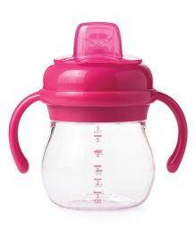 Oxo Tot Transitions Soft Spout Sippy Cup With Removable Handles Pink - 150 ml