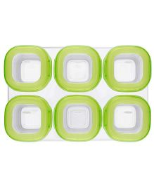 Oxo Freezer Storage Containers Set Of 6 - Green