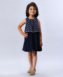 Soul Fairy Cape Style Sleeveless Dress - Navy