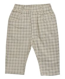 Kiwi Full Length Checkered Pant - Cream