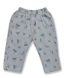 Kiwi Full Length Printed Lounge Pant - Grey