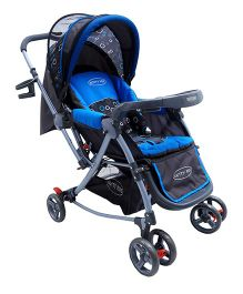 Rocking Baby Pram Cum Rocker - Blue