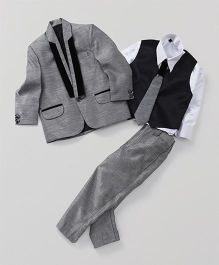 Rikidoos 4 Piece Party Wear Coat Suit Set - Grey