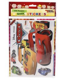 Sticker Bazaar Disney Pixar A4 Foam Sparkle Cars Sticker
