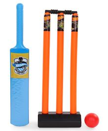 Hot Wheels Cricket Set - Orange & Blue