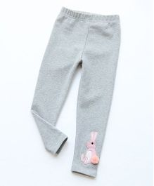 Pre Order - Awabox Rabbit Applique Leggings - Gray