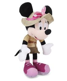 Disney Minnie Mouse in Safari Dress Plush Soft Toy Brown - 25.4 cm