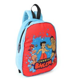 Chhota Bheem Plush School Bag Sky Blue Orange - 12.5 inches