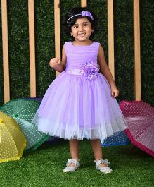 Birthdaywala Dress Fit & Flare Tutu Dress - Lavender