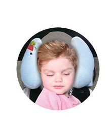 Babies Bloom Baby Support Pillow for Car Seat - Blue