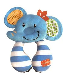 Babies Bloom Travel Pillow Elephant Shaped - Blue
