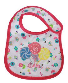 Babies Bloom Waterproof Saliva Bib Candy Patch - Red