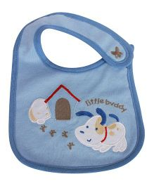 Babies Bloom Waterproof Saliva Bib Puppt Patch - Blue