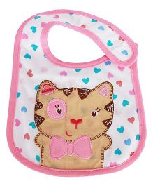 Babies Bloom Waterproof Saliva Bib Cat Patch - Pink
