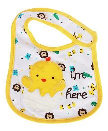 Babies Bloom Waterproof Saliva Bib Duck Patch - Yellow