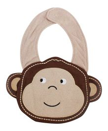 Babies Bloom Animal Shape Waterproof Bib - Brown