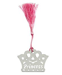 Babies Bloom Little Princess Crown Shaped Bookmark - Silver Pink