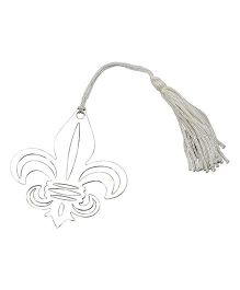 Babies Bloom Metal Bookmark With Elegant Silk Tassel - Silver