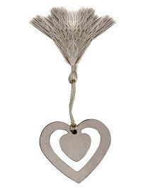Babies Bloom Silver Heart Shaped Bookmark - Silver