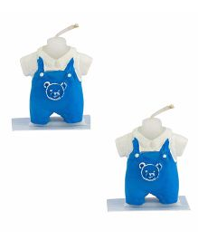 Babies Bloom Teddy Bear Dress Birthday Candle Set of 2 - Blue