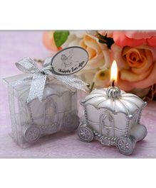 Babies Bloom Cindrella Carriage Candle - Silver