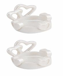 Babies Bloom Heart Design Candle Stand White - Set of 2
