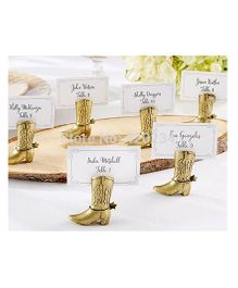 Babies Bloom Cowboy Boot Card Holder Set of 6 - Golden