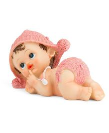 Babies Bloom Lifelike Decorative Resin Baby Doll Pink - 8 cm